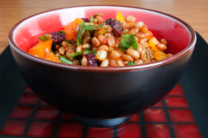 Lemon Cranberry Wheat Berry Salad